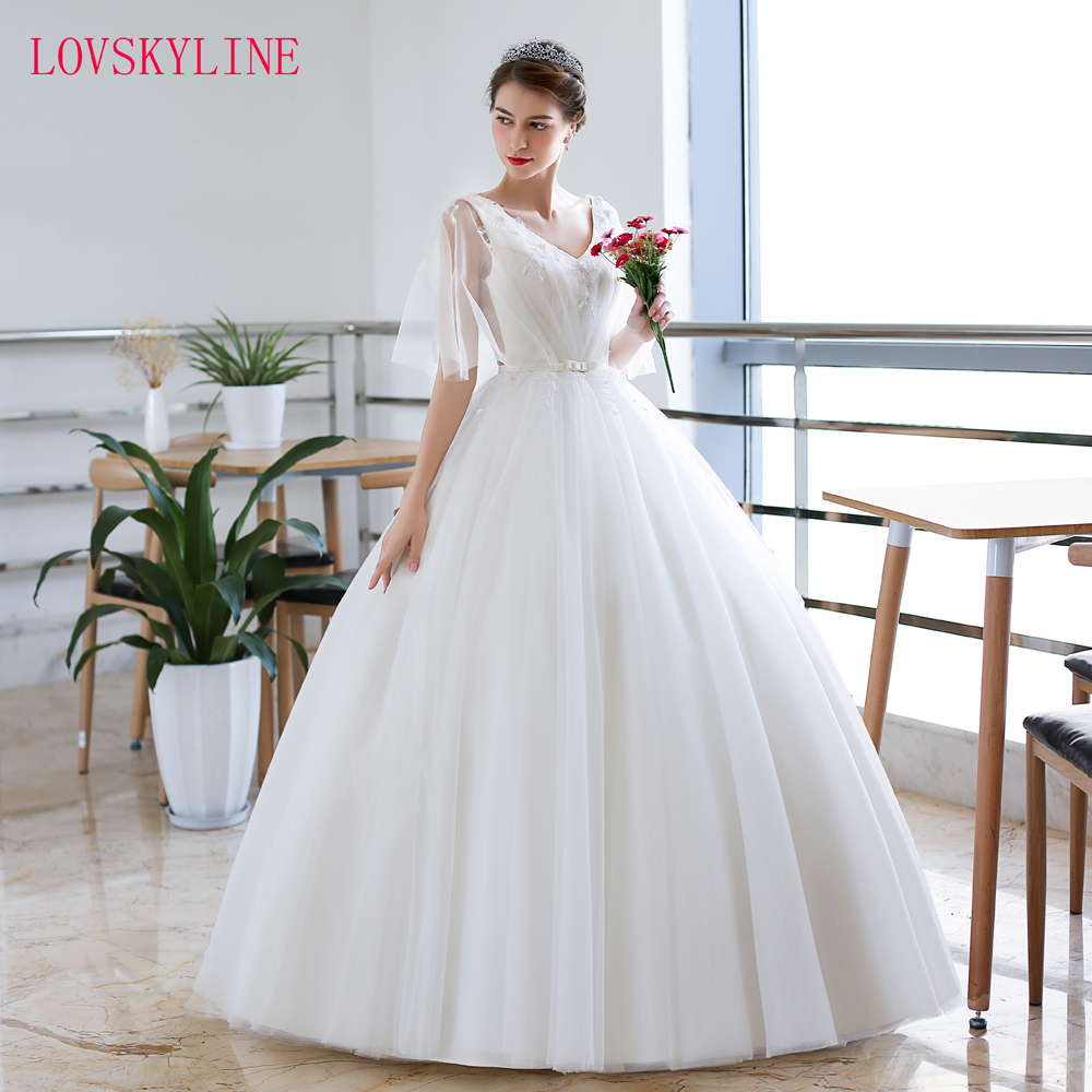 Robe De Soiree 2018 Simple New Arrival Wedding Dress Ivory