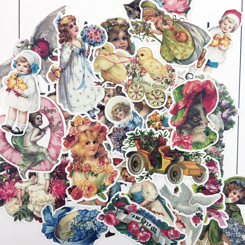 25pcs Hand Drawing Flower Fairy Sticker Decorative Stickers For Notebook Planner Scrapbooking, DIY Paper Sticker