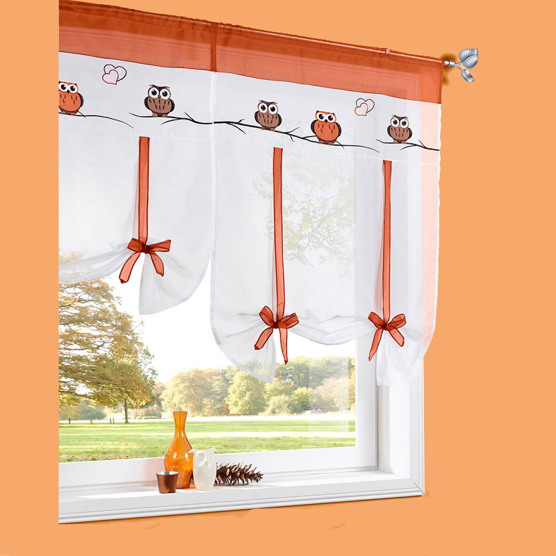Exceptionnel 2017 Bonprix European Embroidery Style Owl Pattern Tie Up Roman Window  Curtain Cafe Kitchen Curtains Tab Top Window Curtains In Curtains From Home  U0026 Garden ...