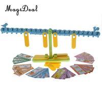 MagiDeal 1Pc Plastic Children Kids Preschool Balance Scale Balance Game Math Mathematics Learning Toy Gift