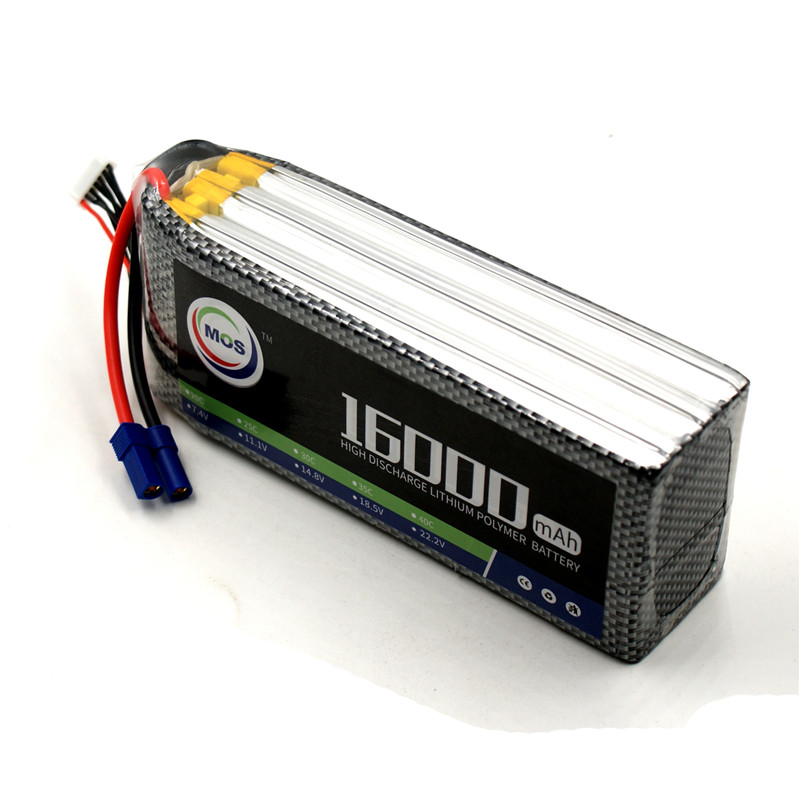 Lipo Battery 6S 16000mAh 22.2V 25C RC Helicopter Drone Quadcopter Airplane Lithium Batteries Remote Control Toys Li-ion Battery 4 2v 6a 1s lithium battery protection pcb bms board for 18650 18550 li ion lipo battery cell