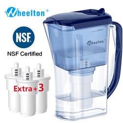 Wheelton бытовой и пикник двойной фильтр чайник и прикрепить дополнительные 3 картриджа фильтр для воды очиститель воды Brita Бесплатная доставка