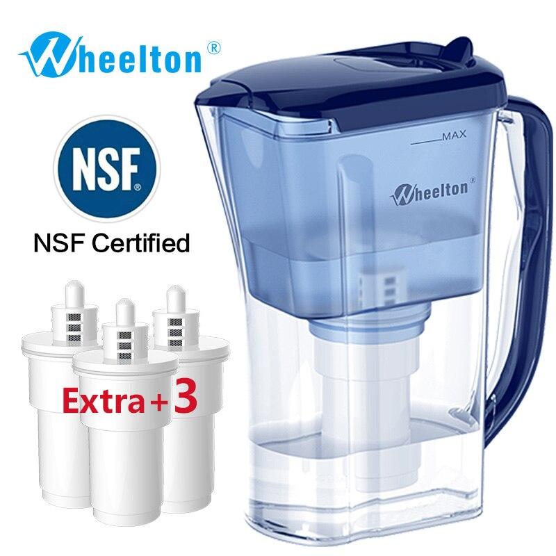 Wheelton бытовых и пикника двойной фильтр чайник и прикрепить дополнительные 3 картридж фильтр для воды, фильтр для воды Brita Бесплатная доставка