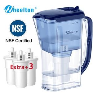 Image 1 - Wheelton бытовой и пикника двойной фильтр чайник и прикрепить дополнительные 3 картридж фильтр для воды очиститель воды Brita Бесплатная доставка