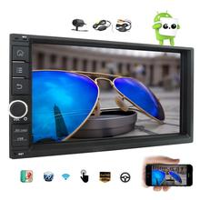 Android 6.0 Car No DVD Player 7 Inch Car Stereo Radio Receiver Quad Core GPS Navigation In Dash Bluetooth + Wireless Back Camera