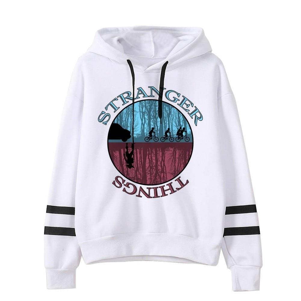 Kpop Stranger Things Hoodie Woman Hooded Hoodies Sweatshirts Kawaii Korean Oversized Harajuku Hip Hop Hoodie Sweatshirt