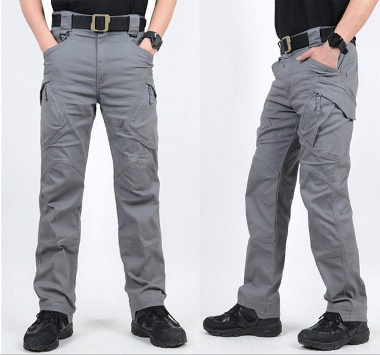 ФОТО 5 Color! Military Tactical Pants IX7 Men Pure Cotton Cargo Pants With Pockets Men's Classic Army Style Trousers Multifunction