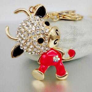 Bijoux adowonello livraison gratuite strass cristal belle vache porte-clés porte-clés pour voiture sac à main Chram porte-clés en gros