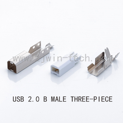 5SETS USB 2.0 B Type Male THREE-PIECE DIY USB Connector Soldering Printer Tail Charging USB Jack