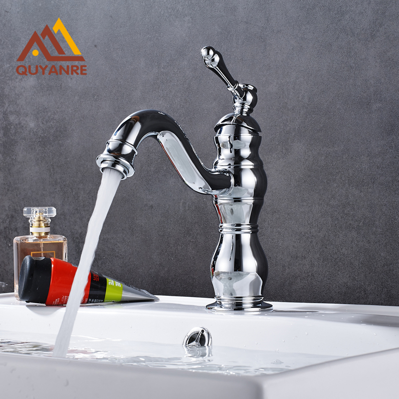 Free Shipping Chrome Polish Basin Faucet with Cold and Hot Water Tap Bathroom Sink Single Level Mixer free shipping black color basin sink faucet single level hot and cold water copper mixer tap