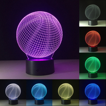 3D Night Lights Basketball USB LED Lights Novelty Visual Lights 7 Colors Table Lamp Atmosphere Lamp Fashion Kid Birthday Gift