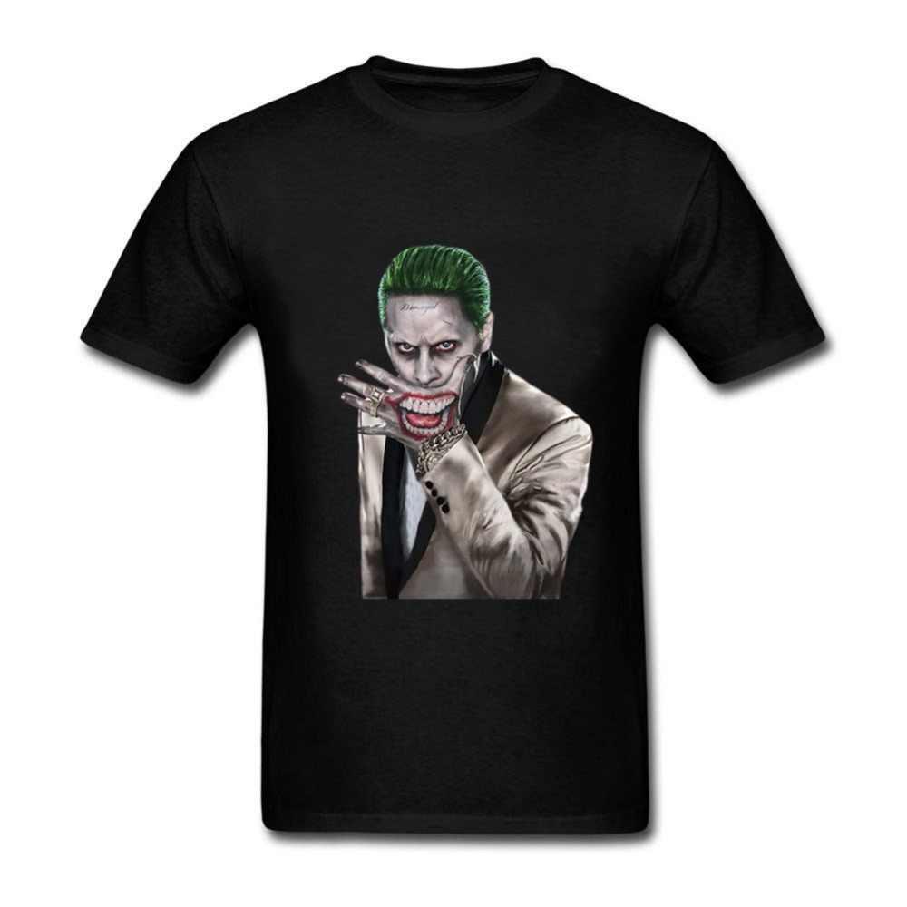 2018 новый отряд самоубийц Мужская футболка 100% хлопок Харли и Джокер печать одежда короткие мужские футболки с круглым вырезом Футболка