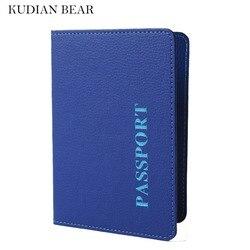Kudian bear minimalist passport cover unisex passport holder with ticket clip card holder wallet for passport.jpg 250x250