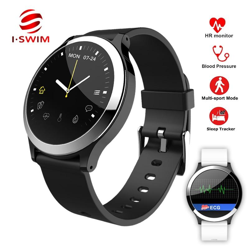 I-SWIM B65 Sport Intelligente Orologio ECG + PPG Misuratore di Pressione Sanguigna Monitor di Frequenza Cardiaca Multi-Modalità Sport Fitness Braccialetto Impermeabile smartband
