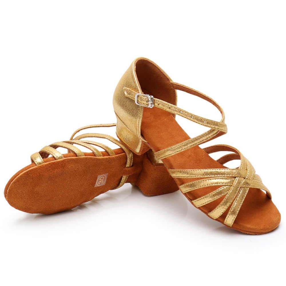 Ballsaal Neue Professional Latin Dance Schuhe für Kinder/Frauen/Mädchen/Damen/Kinder Tango & Salsa Platz ferse Innen Tanzen Satin/PU