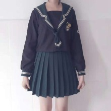 UPHYD Japanese/Korean Navy School Uniforms Student Suit Cute Girls/Women Cosplay School Uniform Sailor Suits Top+Skirt+Tie W93