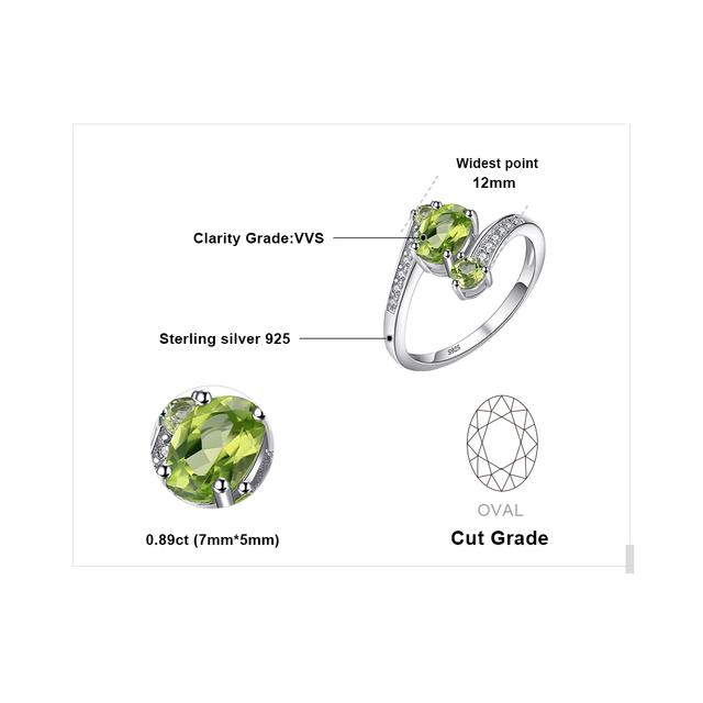 3-Stone Peridot Ring