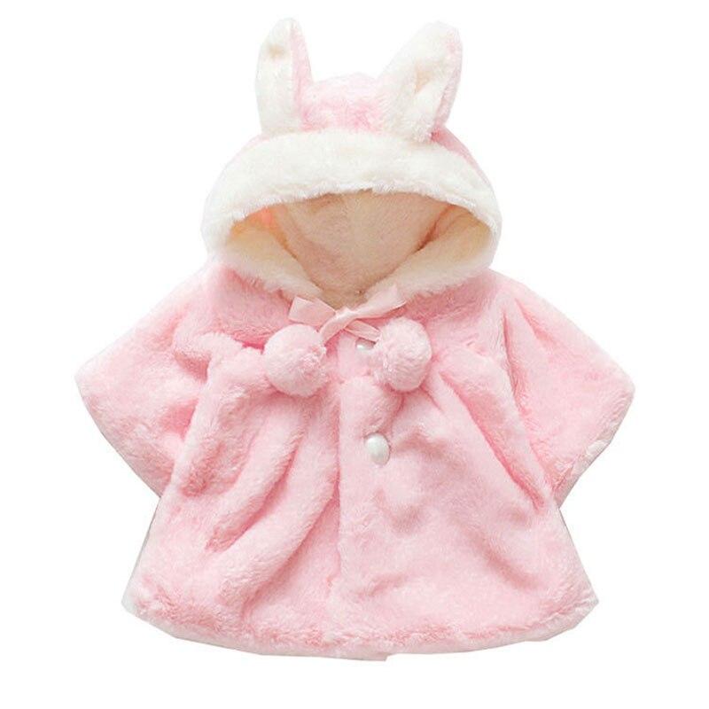 0ad25fec6754 Newborn Baby Hooded Coat Girls Baby Clothing Autumn Winter Long ...