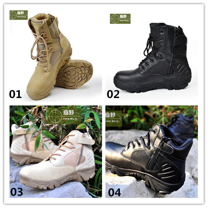 Hot Sale Tactical Hunting Boots Man Shoes Breathable Mesh Shoes Hiking Climbing Sneaker Outdoor Combat Men Boots yin qi shi man winter outdoor shoes hiking camping trip high top hiking boots cow leather durable female plush warm outdoor boot