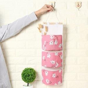 Image 2 - 2019 NEW Organizer Foldable Hanging Pocket Cloth Door Flower Storage Bag Home Household Items Laundry Basket Organizador