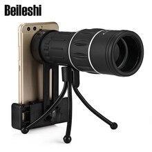 Beileshi 16×52 мини-монокулярный телескоп 10X BAK4 Prism двойной Регулировка фокуса ночник видения телескоп с телефон клип штатив