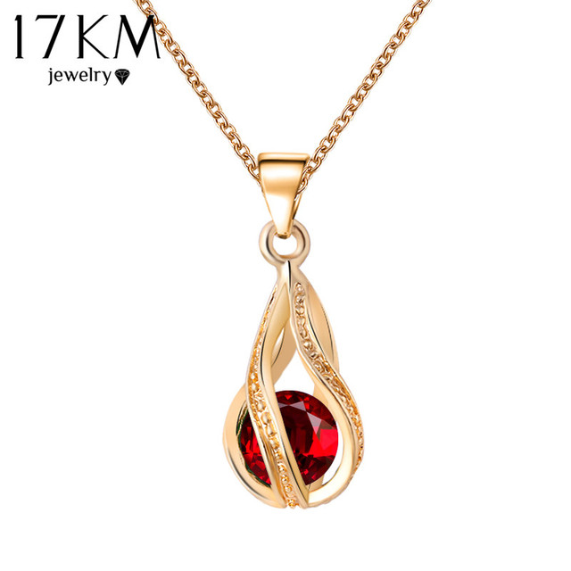 17km long austrian crystal water drop necklaces pendants gold 17km long austrian crystal water drop necklaces pendants gold color silver color maxi necklaces for aloadofball Choice Image