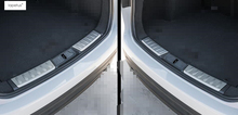 Accessories For Jaguar F-Pace 2017 Stainless Steel Interior Rear Bumper Protector Door Sill Plate Molding Cover Kit Trim 2 Pcs стоимость