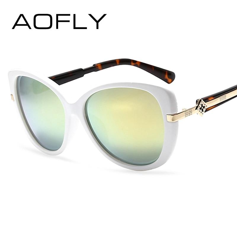 ᗗAOFLY Moda Gafas de Sol Mujeres Diseñador de la Marca Marco Oval ...
