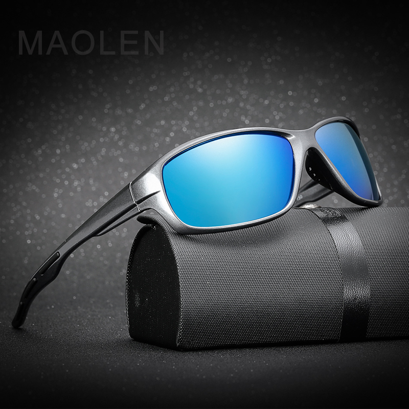 MAOLEN 2018 Brand Sunglasses New Polarized Sunglasses Travel Oculos Driving Golf Rimless Glasses Sports Sun glasses Men Women