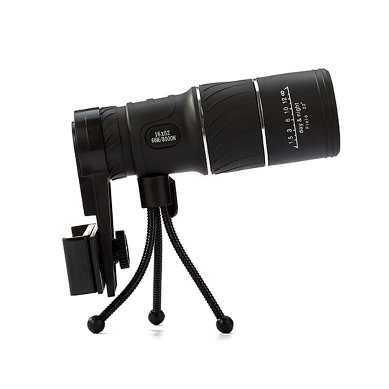 16X52 Monocular Telescope for Smartphone High Power Green Film Optic Lens Outdoor Spotting Scope New