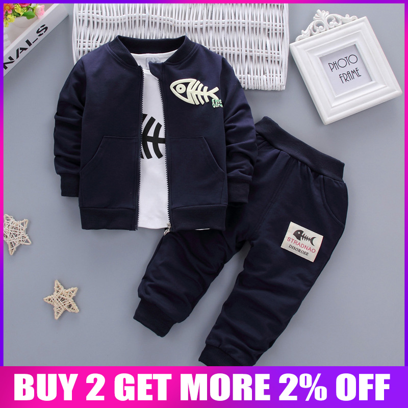 BibiCola Baby Clothes  Boy Clothing set 3pcs Sport Suits Casual Children Jacket +T-shirt + Pants Boys  Tracksuit SetsBibiCola Baby Clothes  Boy Clothing set 3pcs Sport Suits Casual Children Jacket +T-shirt + Pants Boys  Tracksuit Sets