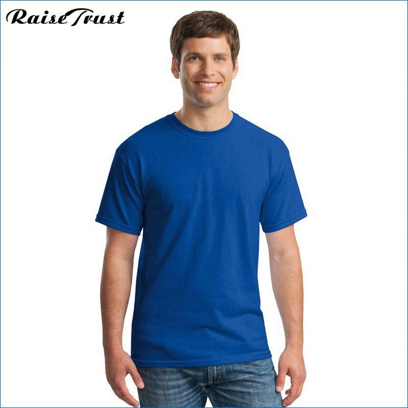 2019 Yeni Katı renk T Gömlek yaz Erkekler t gömlek kısa kollu - Erkek Giyim - Fotoğraf 5