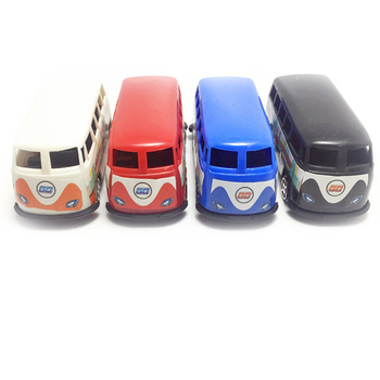 1 pc bus car toys Mini Cartoons cars The Little Bus Model Children Mini Bus Car ABS Baby Toy Vehicles Christmas Gift image