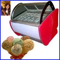 Luxuoso ice cream vitrine frigorífico