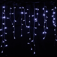 2m 104 Bulbs Fairy LED Curtain Garland White Christmas Lights Decoration Icicle Holiday Lights For Living