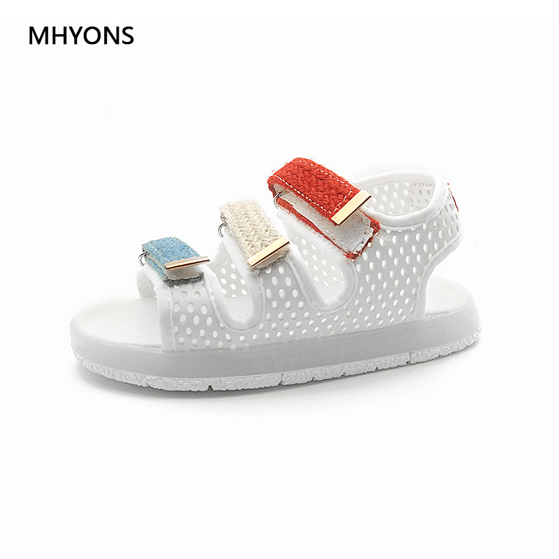 491eab6a2305b Light Boys Girls LED Sandals Summer Child Glowing Leather Baby Soft Beach  Toddler Shoes Kids Sneakers
