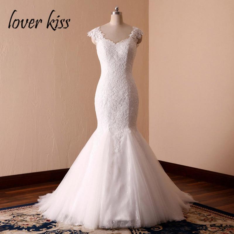 Lover Kiss vestidos de novia 2019 Sexy Lace Mermaid Beach Wedding Dress Forest Seaside  Bride Dresses Gown robe de mariee sirene-in Wedding Dresses from Weddings & Events    1