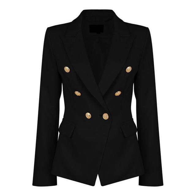 hot sale online 78229 1a8fc US $21.84 5% di SCONTO Signore Nero Blazers Feminino Formale Brevi Sottile  Giacche Bianche Femminile Lungo Manicotto Vestito di Affari WS2509C in ...