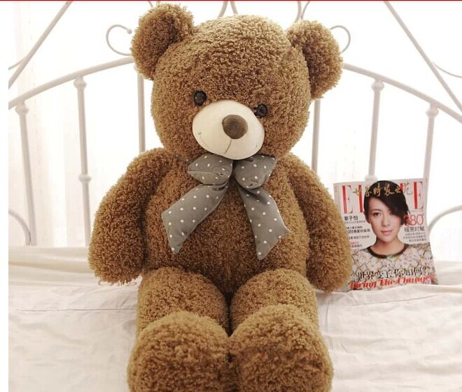 lovely army green teddy bear doll candy colours teddy bear with spots bow plush toy doll birthday gift about 100cm children s toy crossbow with infrared white army green