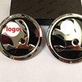 for Skoda Logo Octavia Fabia Superb Yeti 80mm 90mm Black Emblem Front Hood Rear Trunk Boot Lid Badge 32D 853 621 A/5JD  621 C