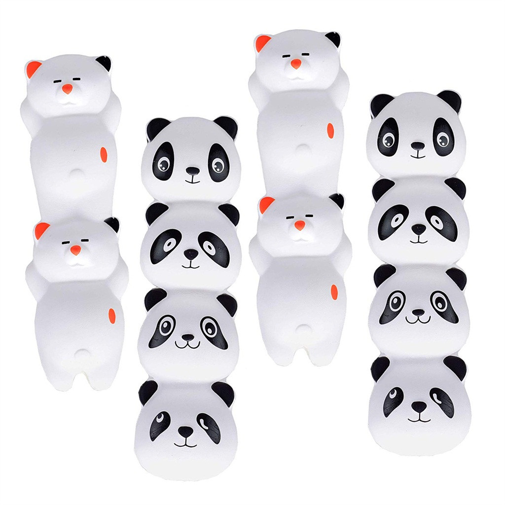 Squishy Speelgoed Skuishy Leuke Dieren 4 Pcs Skuishy Panda Potlood Grip Langzaam Stijgende Potlood Toppers Geurende Stress Anti-stress Speelgoed