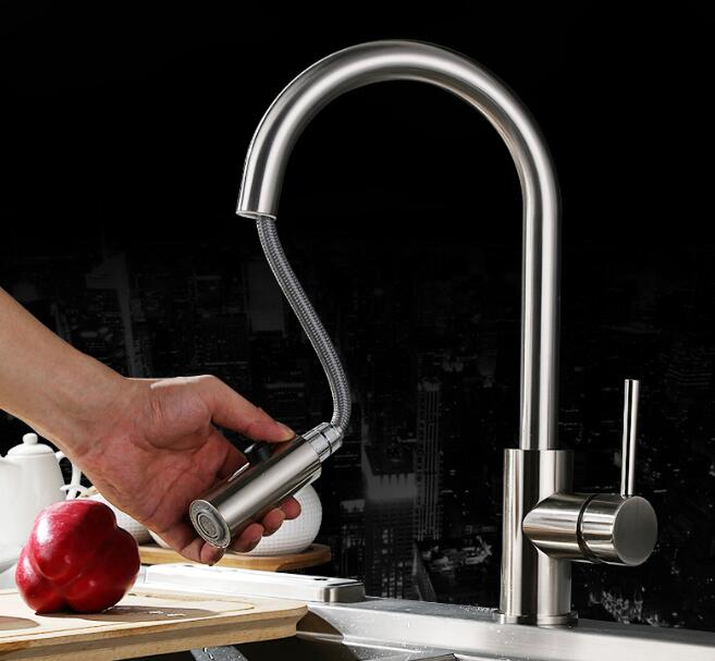 Free shipping 304 Stainless Steel Lead-free Kitchen Faucet Mixer put out Water Filter Tap purified Water Spout 306 free shipping soild brass lead free kitchen faucet mixer drinking water filter tap with filtered purified water spout wholesale