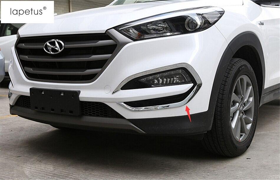 ABS! accessoires Pour Hyundai Tucson 2016 2017 2018 Face Avant Tête brouillard Lampe Lumière Moulage Couverture Kit Garniture 2 Pièce/ensemble