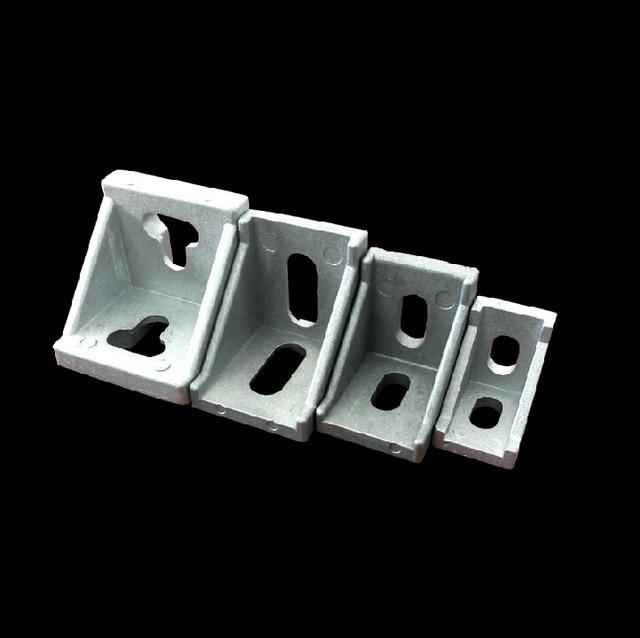 25pcs/lot DIY 3030 Serie Corner Brackets Angle Connector Fastener for 3030 Decorative Industrial Aluminum Profile Accessories