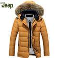 AFS JEEP new men's down jacket thick coat in the  hooded down jacket warm and comfortable fashion men's down jacket 140
