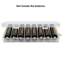 10pcs/lot translucent Battery Case Organizer Holder pp Hard Plastic 18650 battery Storage Box with hook For 8PCS 18650 batteries large current 18650 battery box plastic case holder storage with diy batteries 18650 3 7v 7 4v lithium battery case