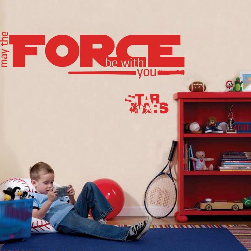 Nov dizajn Naj bo sila z vami War Star Quote WALL STICKER Home Decor - Dekor za dom - Fotografija 3