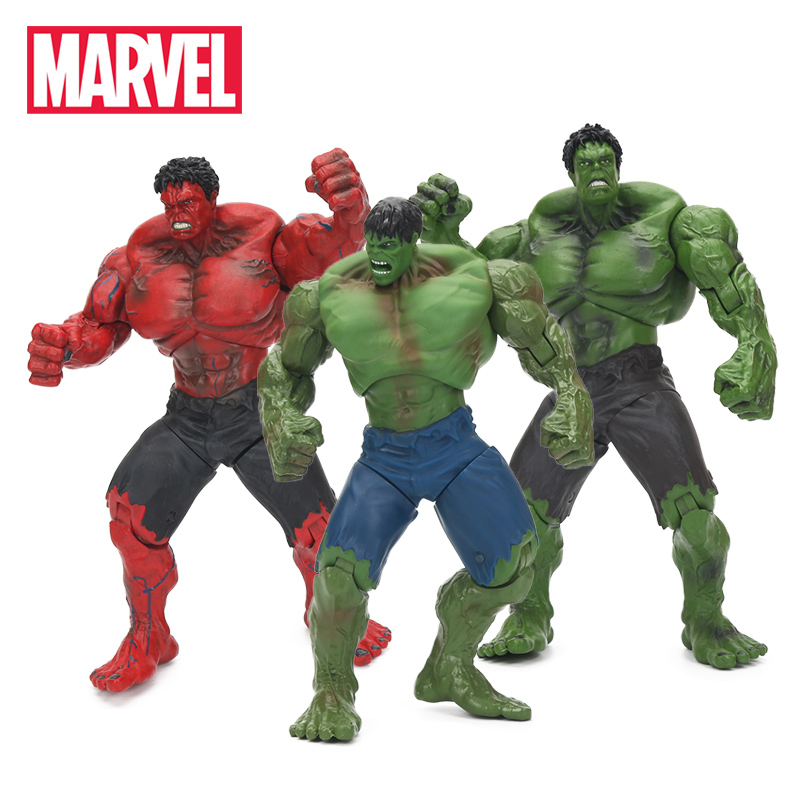 25cm Marvel Toys The Avengers Super Hero Hulk PVC Action Figure Red Hulk Collectible Model Dolls Figures Toy Best Gifts for Boys