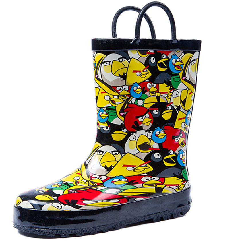 Hot Girls Rain Boots Boys Shoes Cartoon Lovely Autumn Warm Pvc Baby Todders Fashion Boots Non-slip Waterproof Shoes for Children