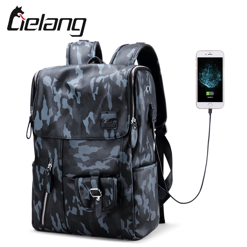 Laptop Backpack Waterproof Mochila Teenager Anti-Thief Camouflage Men For Casual Male